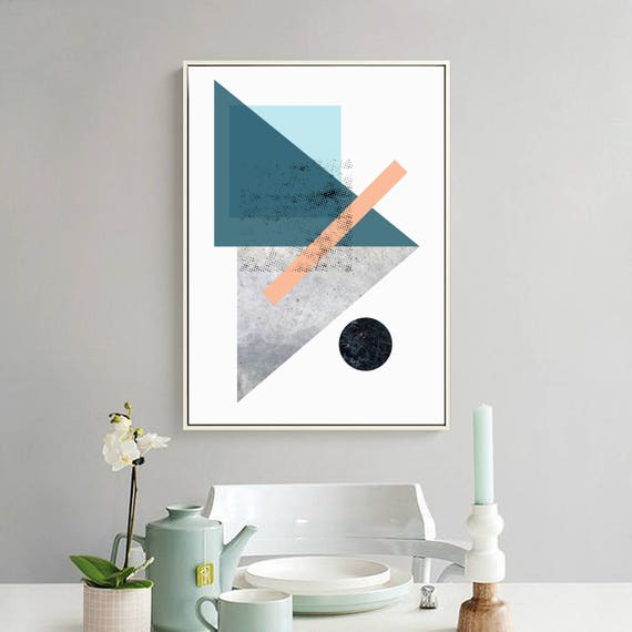 LOLA_2 // Poster, Abstract art, 12x18, minimalist art print, geometric print, abstract, Scandinavian style, nordic design, pink