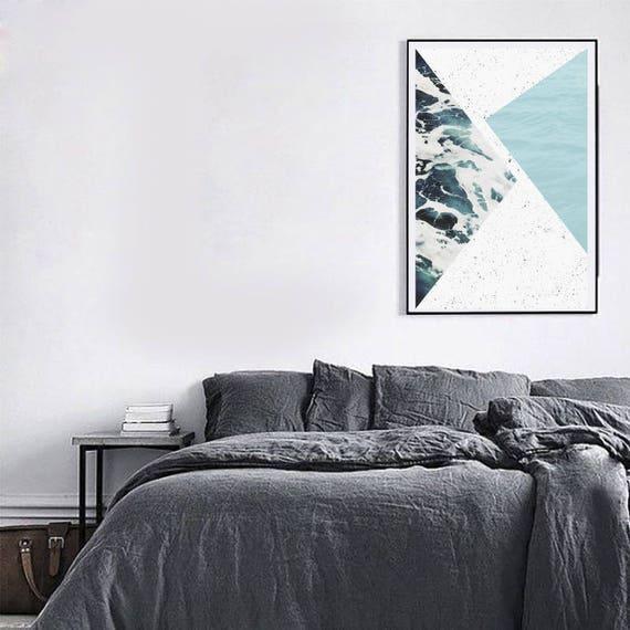 ABSTRACT ocean // Poster 18x24, minimalist art print, geometric print, scandinavian poster, Nordic design