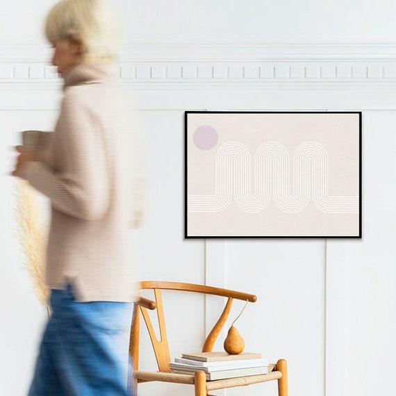 ROAD Mid century // Abstract Poster, 8x10, 10x10, 18x24, minimalist art print, Pastel colors, boho, vintage