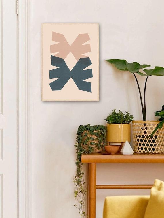 DUO MID CENTURY //  Mid Century Poster, 8x10, 18x24, 24x36 minimalist art print, Pastel colors, abstract, geometry, aesthetic poster, boho