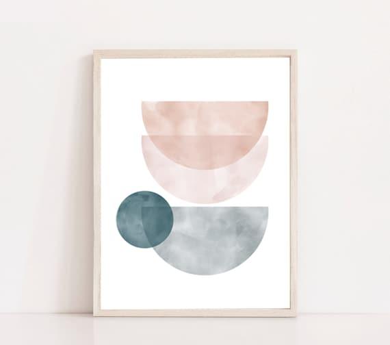 RÊVERIE #02  // Mid Century Poster,  8X10, art geometrique , abstrait