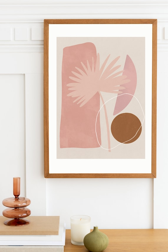 PAMPA MID CENTURY //  abstract poster, 8x10, 16x20, 18x24, minimalist art print, Pastel colors, abstract, boho decor, minimal, couleur beige