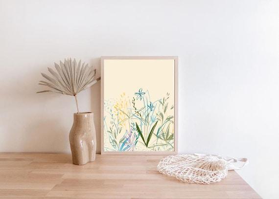 DOUCEUR #02 // Abstract Poster, 8x10, 10x10, 16x20, 18x24, minimalist art print, Pastel colors, boho, vintage, pink