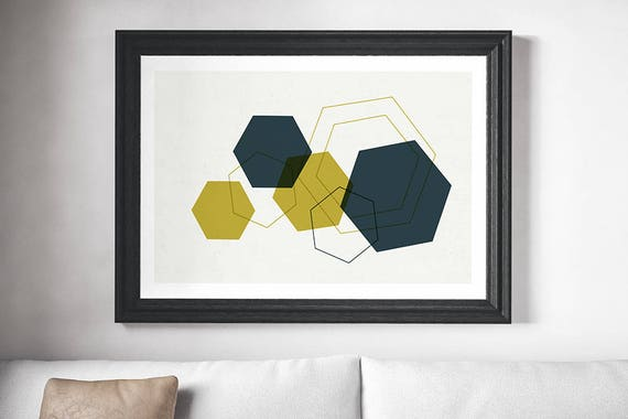 MULTI DIAMOND // poster, Abstract art, 12x18, minimalist art print, geometric print, mid century, Scandinavian style, diamond, green