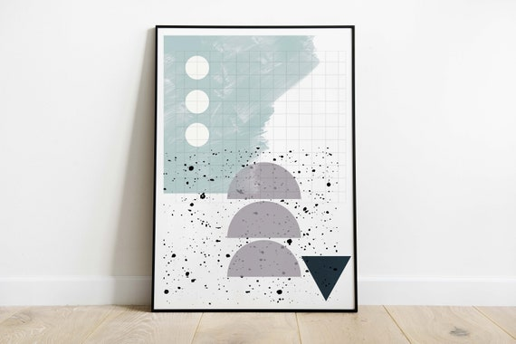abstract TRIANGLES // Poster 18x24, Abstract art, minimalist art print, geometric print, scandinavian style, Nordic design, pastel poster