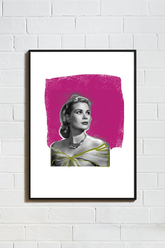 ICONE GRACE KELLY // Poster, 8x10, collage