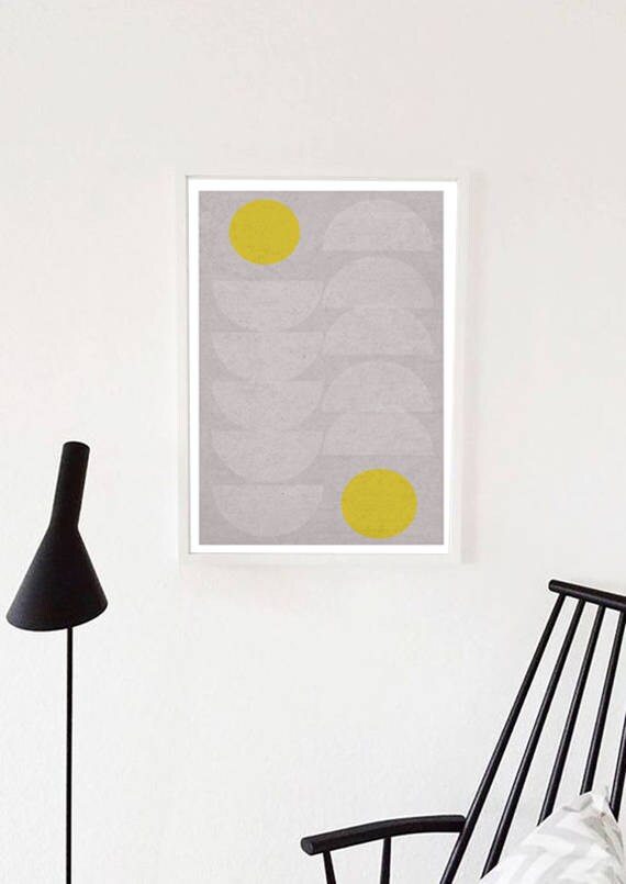 QUEUE LEU LEU // Poster, Abstract art, 18x24, minimalist art print, geometric print, mid century, Scandinavian style, half cercle, pastel