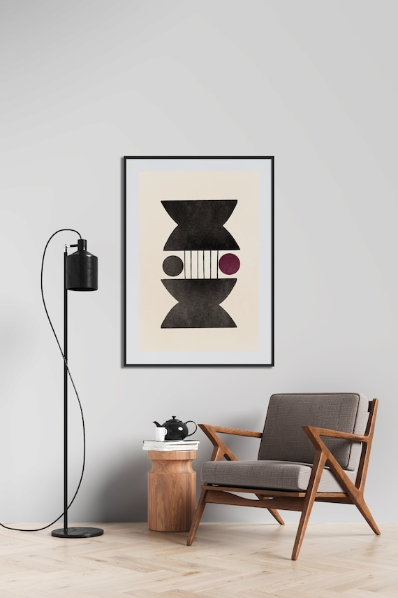 Mid century duo // art  Poster,  24x36, illustration, abstrait
