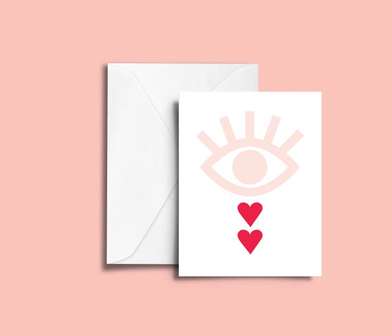 VALENTIN'S DAY heartbreak // Valentine's day Card, Scandinavian Design, Pastel colors, abstract art