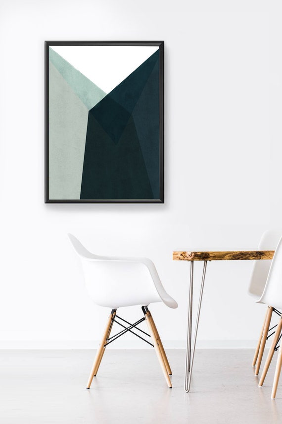MID CENTURY Building //  Mid Century Poster, 8x10, 12x16, 18x24, minimalist art print, Pastel colors, abstract, art, green