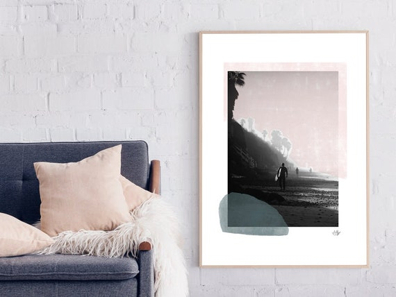 SURFING #01 //  abstract poster, 8x10, 16x20, 18x24, minimalist art print, Pastel colors, abstract, art, photograpy poster, Hawaii