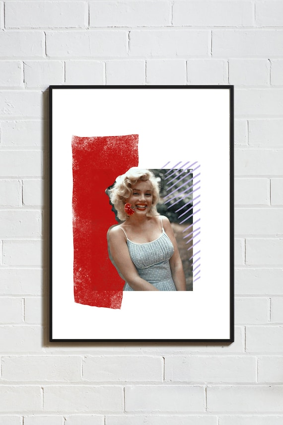 ICONE MARILYN MONROE // Poster, 8x10, collage