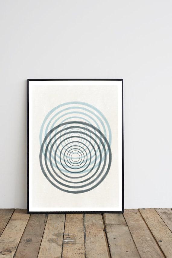 VERTIGE #01/ Abstract art, 12x18, minimalist art, cercle, Scandinavian style, nordic design, pink
