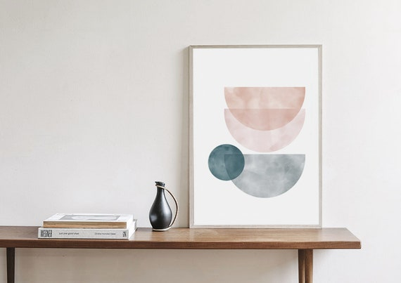 RÊVERIE #02  // Mid Century Poster, 12x18, art geometrique , abstrait