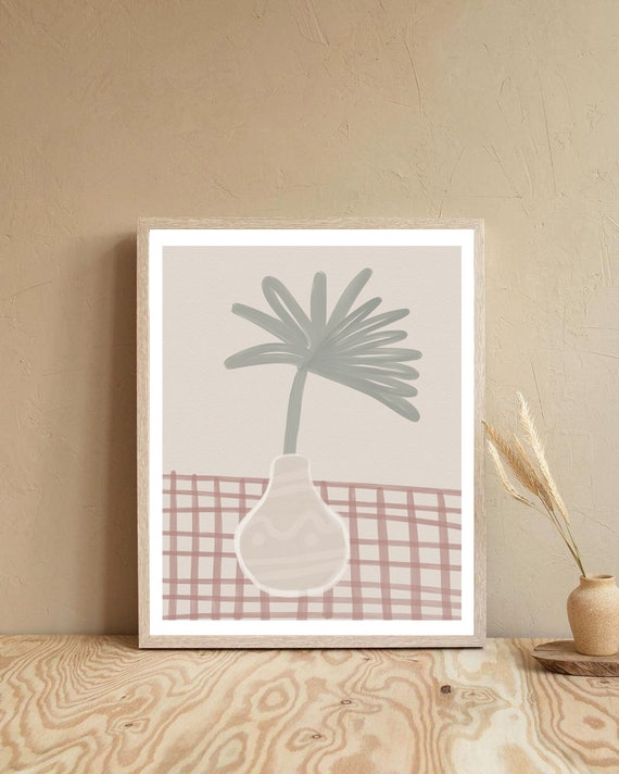 PLANT #01 //  abstract poster, 8x10, 12x16, 18x24, minimalist art print, Pastel colors, abstract, art, boho poster