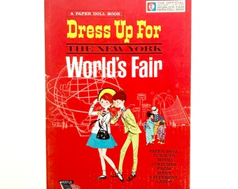 Vintage Paper Doll Book Peter Wendy Dress Up for the New York World's Fair 1963