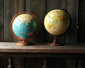 rand mcnally globe vintage