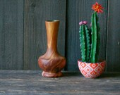Namadji Ceramic Vase Native American Potery Rust Color With Brown Marbling