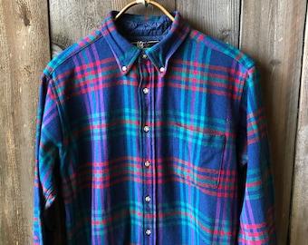 Vintage 80s Wool Shirt Lobo