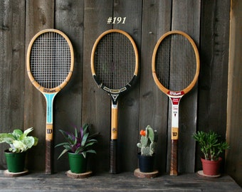 Choose Vintage Tennis Rackets Sold Separately Or Set of Three Vintage From Nowvintage on Etsy