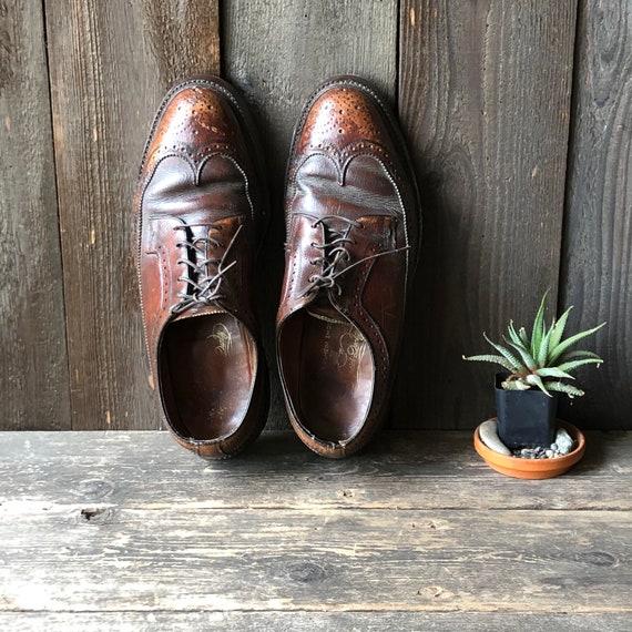 Brown Wingtip Florsheim Mens Shoes