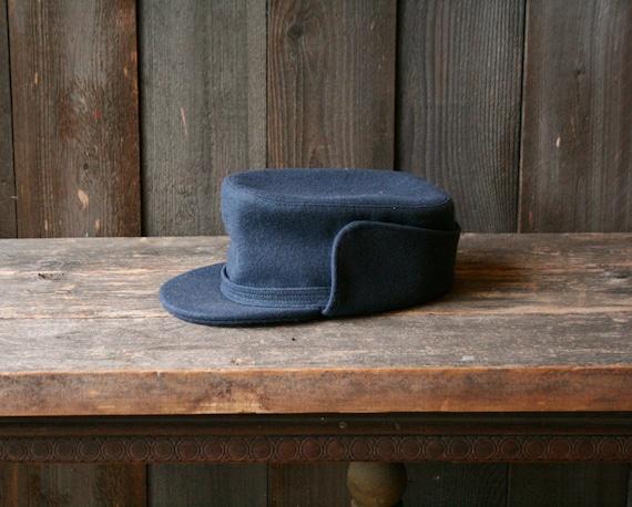 Mens Wool Cap 1930s Depression Era Ear Flap Theate