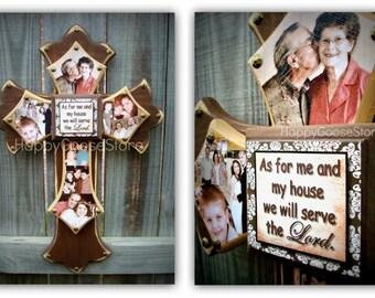 Wall Wood Cross with PHOTOS - Medium Cross - 3 layers - Custom