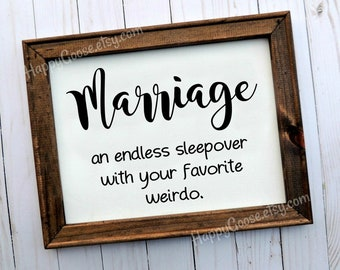 Wall Canvas Sign - Reverse Canvas - Marriage sign - 11x14