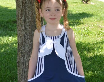 Huge Sale ... Girls Tunic Top PDF Sewing Pattern ... Sailor Top Pattern ... Trixie Tunic