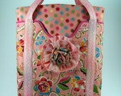 Huge Sale Spring Day Tote Bag and Fabric Flower Brooch PDF Sewing Pattern