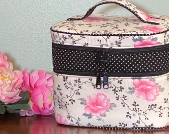 Norma Jean's Train Case PDF Sewing Pattern ... NEW ... 2 variations ... Makeup Bag ... Cosmetic Case ... Zippered Bag