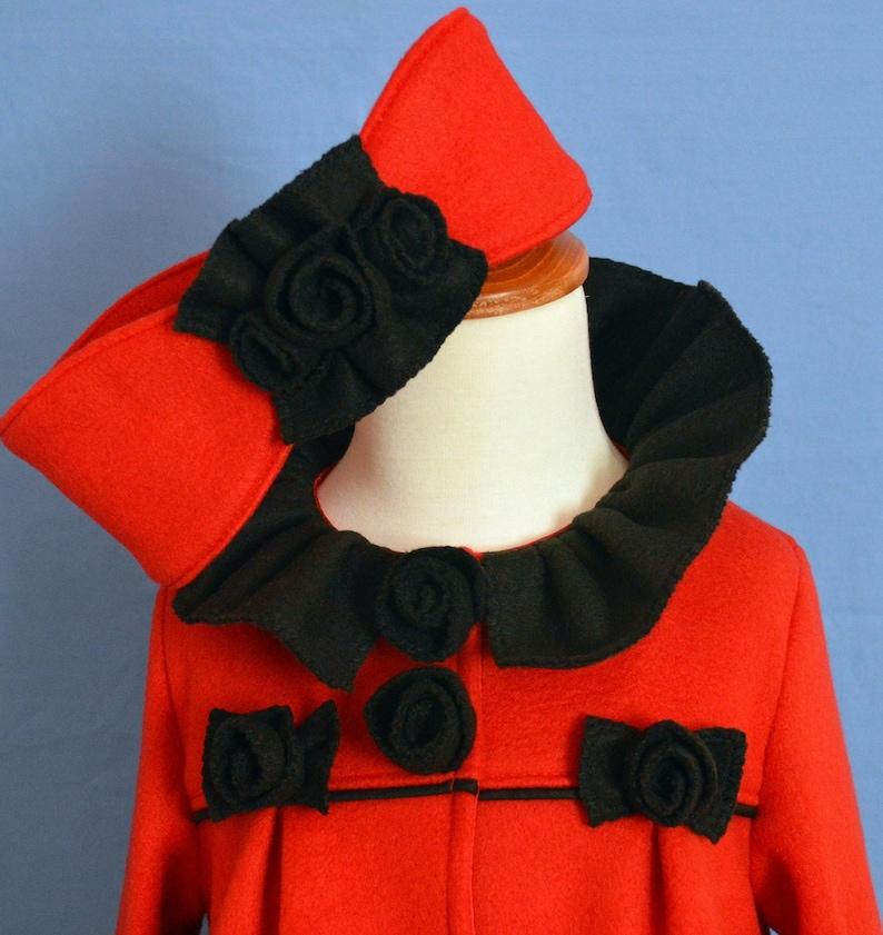 Huge Sale ... Girls Fleece Coat Pattern with Ear Warmer PDF image 0