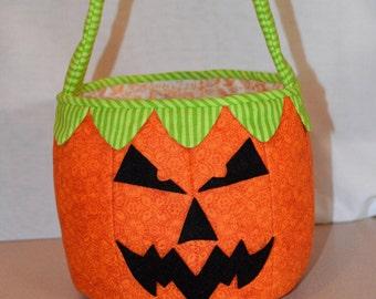 Huge Sale ... Fabric Basket PDF Sewing Pattern Tutorial ... pumpkin basket, jack-o-lantern basket, easter basket