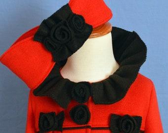 Huge Sale ... Girls Fleece Coat Pattern with Ear Warmer PDF Sewing Pattern ... Ruffles & Roses winter coat pattern