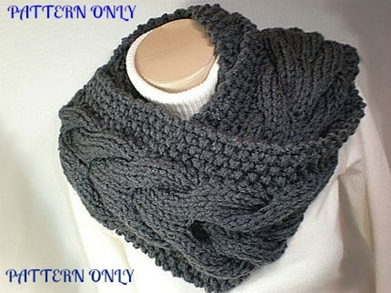 Knitting Pattern Circle Scarf Bitten By Bella Cowl Diy Pdf Etsy