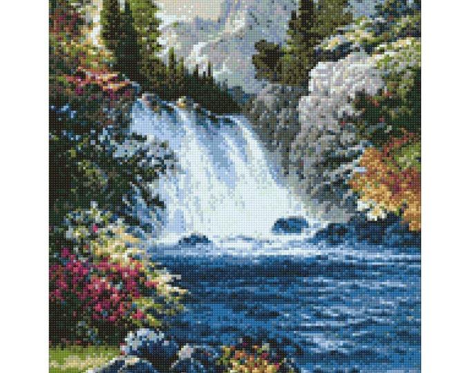 Waterfall 48x38cm Collection D/'Art Diamond Kit