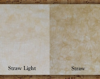 Hand-dyed 11 Ct, 14 Ct, 16 Ct, 18 Ct Aida Cloth, Straw - Garibaldi's Needle Works - choose count, size and shade