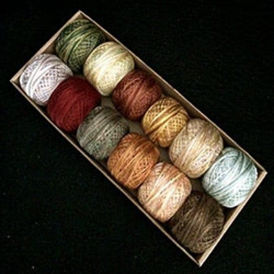 Lumières de pays pays de ensemble #2 - briquet tons - taille 5, taille 8 et taille 12 - Valdani Pearl en coton, 49e6fb