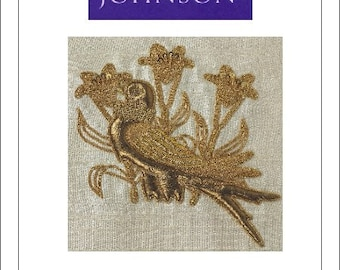 Lilybird Goldwork Kit - Benton & Johnson - contains all threads and fabric needed!