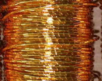 Benton & Johnson Goldwork- K Threads, K1, K2, K3 and K4 Threads-Gold colored metal embroidery thread-couching thread