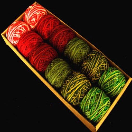 Deux à Noël - 12 taille 8 et 12 - - Perle Valdani coton- 3611d4