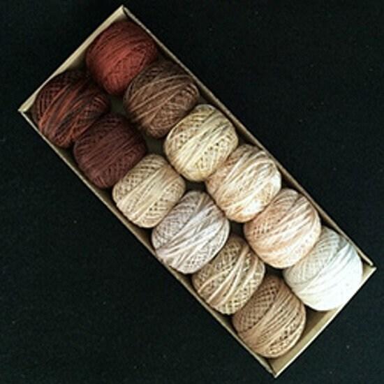 Beige et marrons - taille 8 et 12 12 et - Perle Valdani coton- a4d659