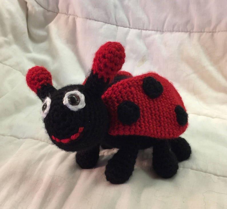 Amigurumi Biedronka Szydełko Zabawka Biedronka Pluszowa Biedronka Crochet Zwierząt
