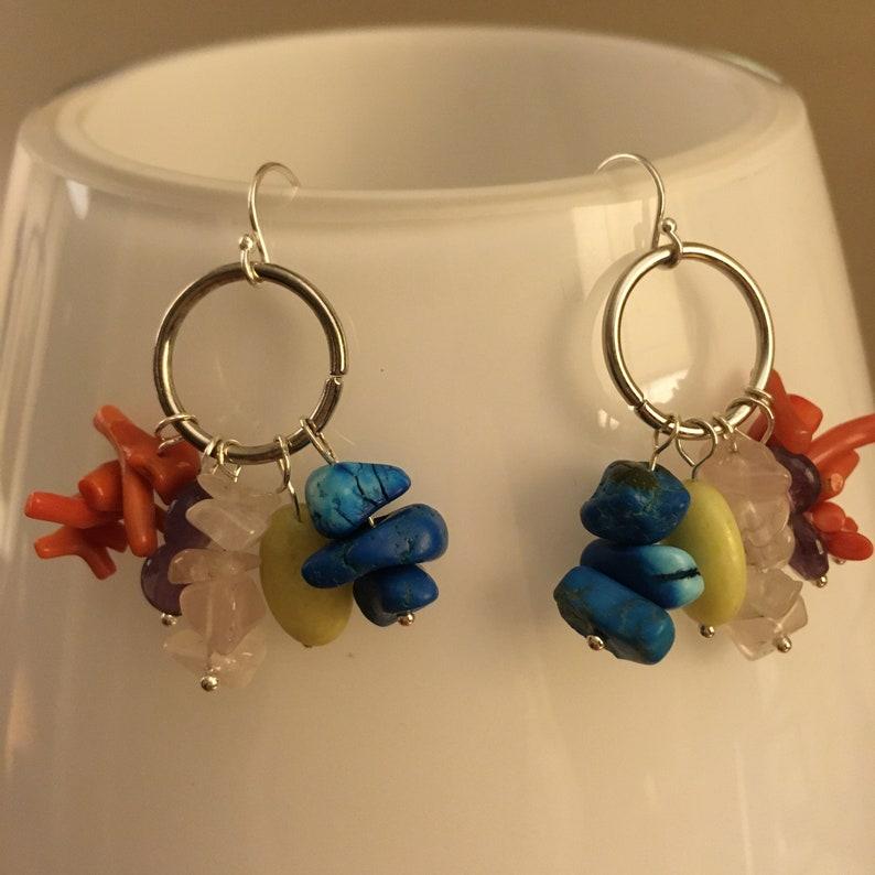 Five Stone Charm Earrings