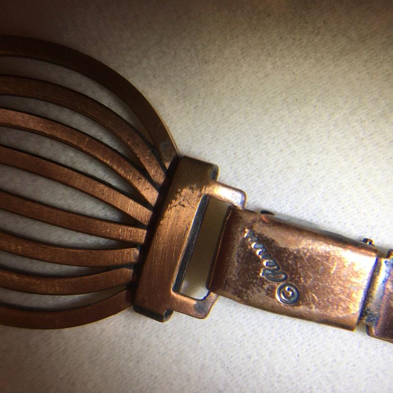 Vintage Signed Renoir Copper Demi Parure Set