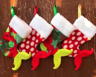 Mermaid Tail Stocking / Mermaid Stocking / Fleece Stocking / Christmas Decor / Beach Decor / Christmas stocking