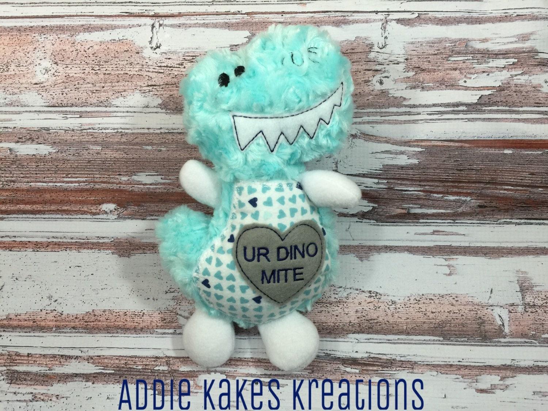 Valentine\'s Day Dinosaur / You\'re Dinomite / Stuffed | Etsy