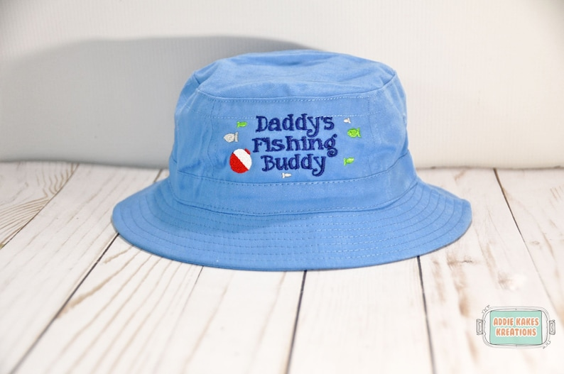 1fbca30a2077 Daddy's Fishing Buddy Hat - Fishing Sun Hat - Grandpa's Fishing Buddy -  Boys Sun Hat - Bucket Hat - Baby - Toddler - Father's Day Gift