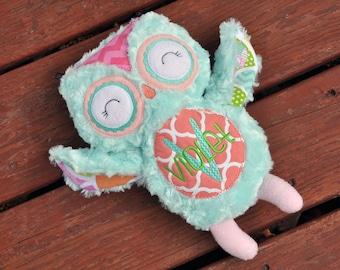 Personalized Owl / Stuffed Owl / Soft Owl / Owl Softie / Plush Owl / Stuffed Animal / Owl / Baby Gift / Soft Toy