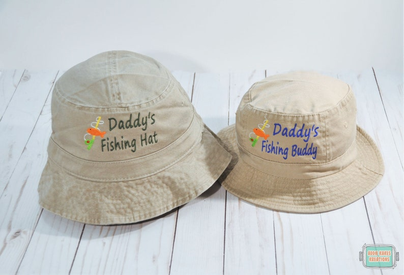 c5643060d8e8 Daddy's Fishing Buddy Bucket Hat Set